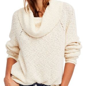 Free People By Your Side Cowl Neck Sweater Size XS